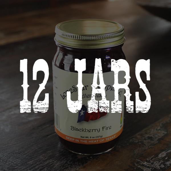 12 Jars of Blackberry Fire Jelly