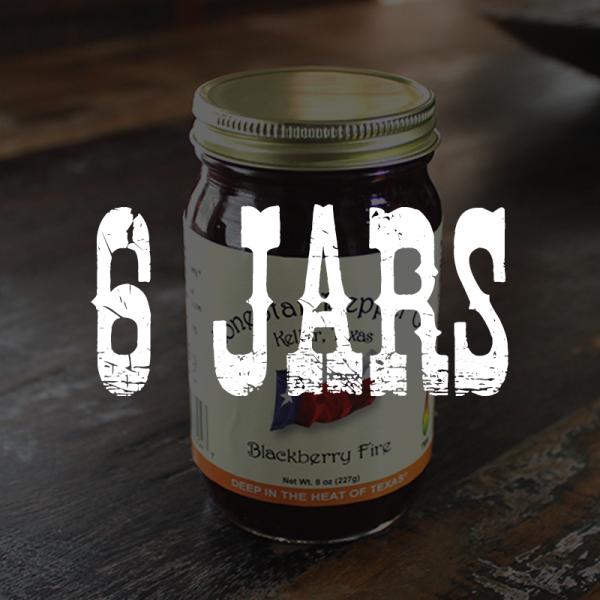 6 Jars of Blackberry Fire Jelly